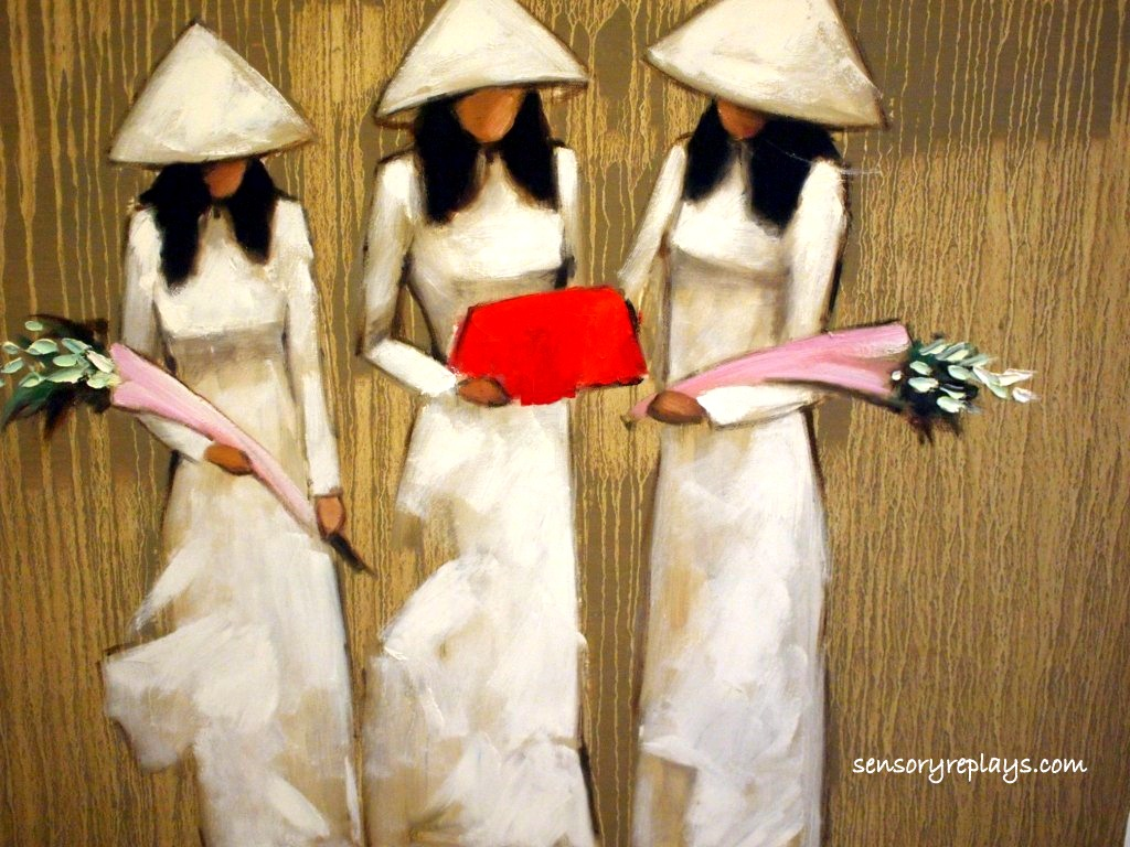 vietnam chronicles  old quarter in hanoiAo Dai Painting